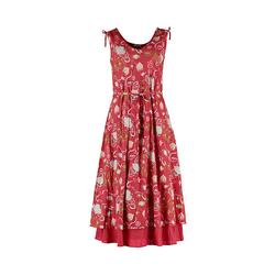 Deerberg Damen Kleid Mariko rot-bedruckt