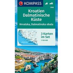KV WK 2900 Kroatien Dalmatinische Küste (3-K-Set) 1:100 000