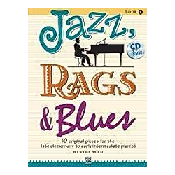 Jazz  Rags & Blues  for piano  w. Audio-CD. Martha Mier  - Buch
