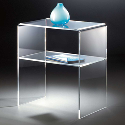 Beistelltisch aus Acrylglas Ablage