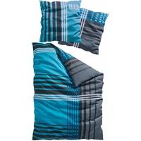 Biber blau 135 x 200 cm + 80 x 80 cm
