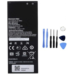 Ellenne Akku kompatibel mit Huawei Honor 4A Y6 Y5 2 II Due HB4342A1RBC Hohe Kapazität 2200 mAh mit Demontage-Set im Lieferumfang enthalten.
