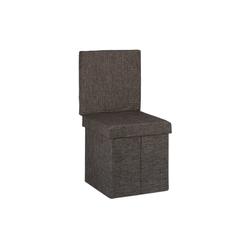 relaxdays Sitzhocker Faltbarer Sitzhocker mit Lehne braun