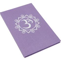 Guru-Shop Tagebuch Notizbuch, Tagebuch - OM violett