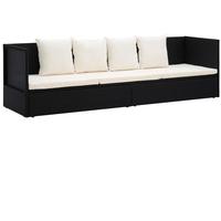 vidaXL Outdoor-Lounge-Bett schwarz