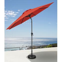 garten gut Ampelschirm, abknickbar, ohne Schirmständer rot Sonnenschirme -segel Gartenmöbel Gartendeko Ampelschirm