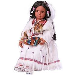 LeNoSa Babypuppe Puppe für Kinder - Authentische - INDIANER - Sammlerpuppe