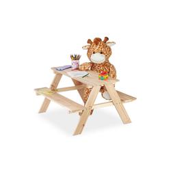 relaxdays Kindersitzgruppe Kindersitzgruppe Holz