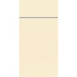 DUNI Duniletto-Slim Bestecktasche, Serviettentasche aus hochertigem Material, Maße: 40 x 33 cm, 1 Karton = 4 x 65 Stück, champagne