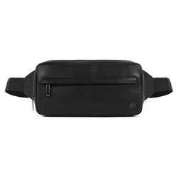 Piquadro Falstaff Gürteltasche Leder 29 cm black
