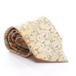 HERMÈS Herren Krawatte beige / grün, Größe One Size, 5024346