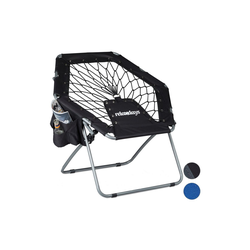 relaxdays Campingstuhl Bungee Stuhl WEBSTER schwarz 75 cm x 70 cm x 84 cm