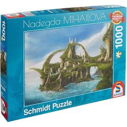 Schmidt Spiele Puzzle Schmidt 59610 - Premium Quality - Nadegda Mihailova - Insel der Wasserfälle, 1000 Teile Puzzle, Puzzleteile