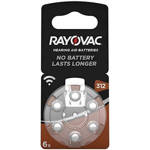 60 Rayovac Acoustic Special Batterien 312 Hörgerätebatterien (10x 6er Blister) PR41 Braun 1,45V