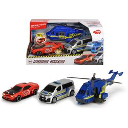 Dickie Toys Spielzeug-Polizei Police Chase, (Set, 3-tlg)