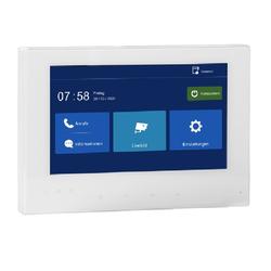 2 Draht IP 7 Zoll Monitor Touchscreen weiss Erweiterung