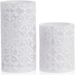 Pauleen LED-Kerze Wachskerze Little Lilac Candle 2er Set (2-tlg)