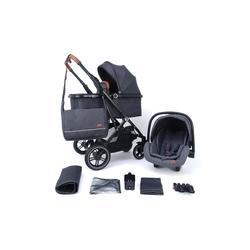 Pixini Kombi-Kinderwagen Pixini Lania Kinderwagen 3in1 Set schwarz