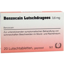 BENZOCAIN Lutschdragees 20 St