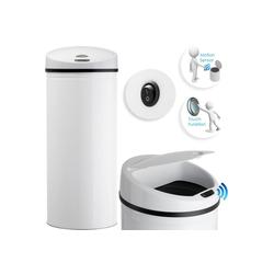 KESSER Mülleimer, Abfalleimer Abfall EDELSTAHL Papierkorb Automatik Sensor 30L 40L 50L 56L weiß 30 l