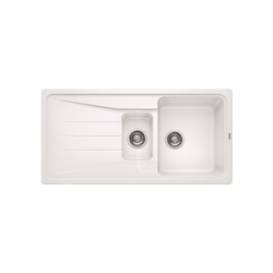 Blanco Sona 6 S Silgranit Puradur Ii 1.5 Bowl Reversible Drainer Composite White Kitchen Sink