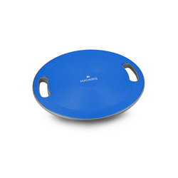 Navaris Balanceboard, Therapiekreisel mit Griff - Therapie Kreisel Stepper - Fitness Reha Balance Kraft Training - Sport Board Ø 40cm blau