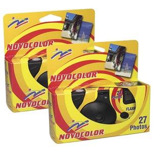Novocolor Einwegkameras mit Blitz