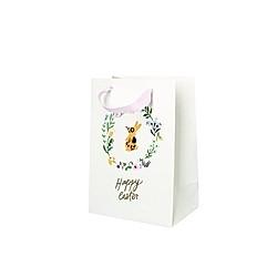 Geschenktüte Ostern, Blumenkranz/Hase, M, FSC Mix