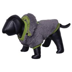 Nobby Hundemantel Teddy grau/grün, Länge: 26 cm