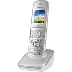 Panasonic KX-TGH710GG DECT Schnurloses Telefon analog Freisprechen, Babyphone Silber
