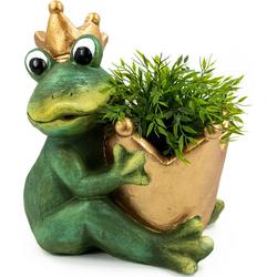 NOOR LIVING Übertopf Pflanztopf Froschkönig XXL (1 Stück)