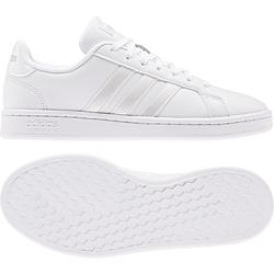 adidas Damen Grand Court Tennisschuh/Sneaker - Ftwr Weiss / Ftwr Weiss / Grau Zwei F17