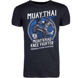 8 Weapons T-Shirt - Muay Thai Khao (Größe: S, Farbe: Schwarz)