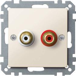 Merten Lautsprecher-Steckdose System M Weiß MEG4350-0344