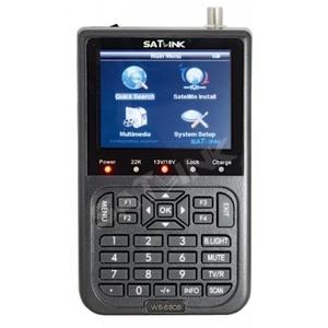 Satlink 6908 Satfinder Messgerät DVB-S Kanäle - Astra, Hotbird, Nilesat, Turksat... vorprogramiert