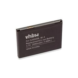 vhbw Li-Ion Akku 2000mAh (3.7V) passend für mobile Router Hotspots Netgear Aircard AC785S