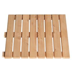 BM Massivholz Holzfliesen, Set, 80 St., Lärche, 50x50 cm, 20m²