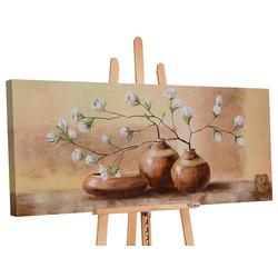 YS-Art Gemälde Topf mit Blumen 129