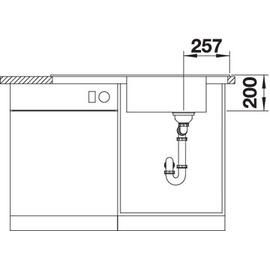 Blanco Faron XL 6 S anthrazit + Excenterbetätigung + InFino