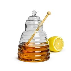 Sendez Honigglas 3-tlg. Honigtopf Honigdose Honigspender Honigglas Marmeladendose Vorratsdose Borosilikatglas