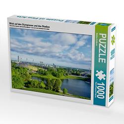 Blick auf den Olympiasee und das Stadion Lege-Größe 64 x 48 cm Foto-Puzzle Bild von Martina Schikore Puzzle