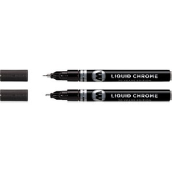 2 MOLOTOW LIQUID CHROME™ Acrylstifte chrom 1,0, 2,0 mm