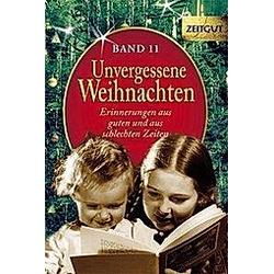 Unvergessene Weihnachten - Buch