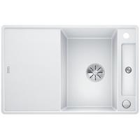 Blanco Axia III 45 S-F weiß + Excenterbetätigung + InFino + Holzschneidbrett