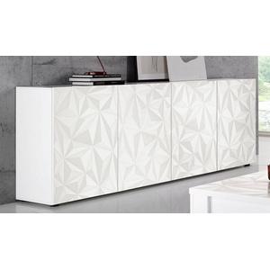 LC Sideboard Prisma, Breite 241 cm, 4-türig weiß