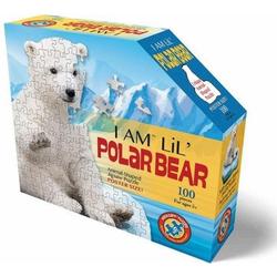 Carletto 884010 - MADD CAPP, Animal Shaped Puzzle, I AM LiL POLARBEAR, Eisbär,