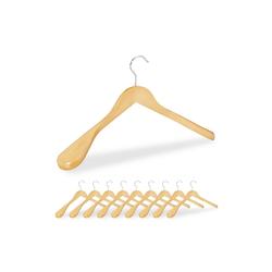 relaxdays Kleiderbügel Anzug Kleiderbügel 10er Set natur