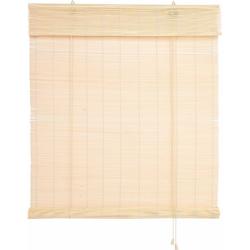Seitenzugrollo Bambus, Liedeco, Lichtschutz, Bambusrollo natur 120 cm x 160 cm