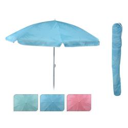Meinposten Sonnenschirm Strandschirm Balkonschirm Schirm UV Schutz 30+ knickbar Ø 155 cm, abknickbar, mit Tragetasche blau
