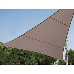 PEREL Sonnensegel, dreieckig Dreieck-Segel für Terrasse Balkon & Garten Sonnenschutz-Segel - Terrassenüberdachung braun